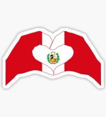 We Heart Peru Patriot Flag Series 1.0 Sticker