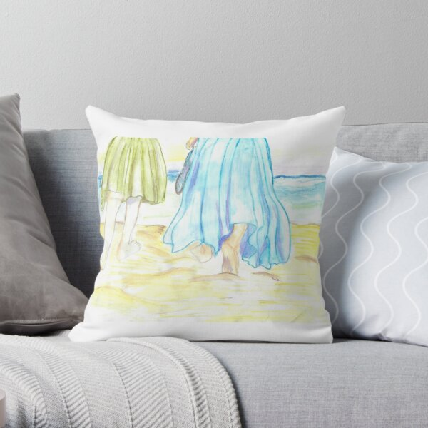 Barefoot At The Beach Throw Pillow