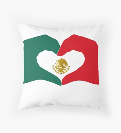 We Heart Mexico Patriot Flag Series  Throw Pillow