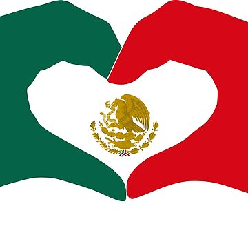 We Heart Mexico Patriot Flag Series  by carbonfibreme