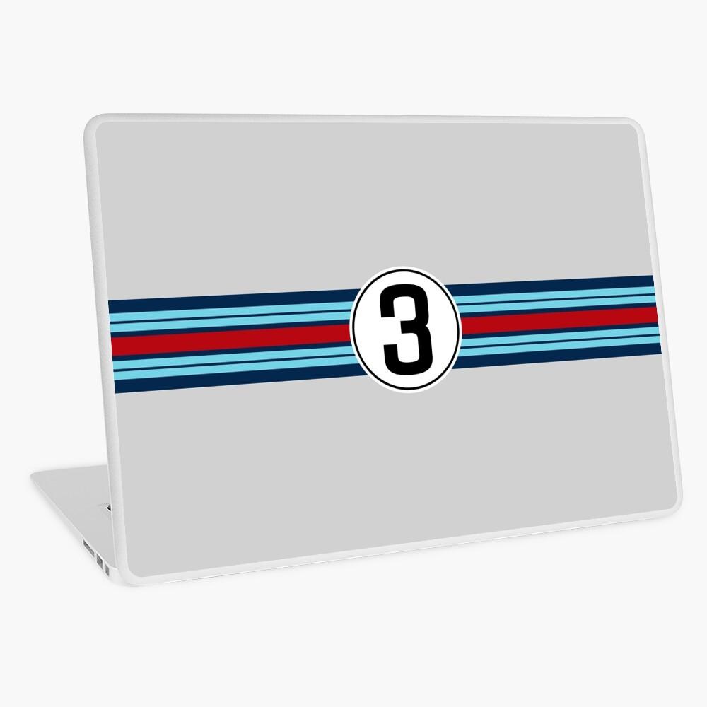 #3 Racing stripe Laptop Skin