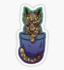 Pocket Cute Tortoiseshell Cat Sticker