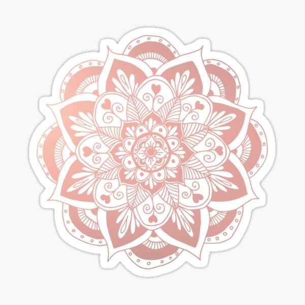 Flower Rose Gold Mandala Sticker
