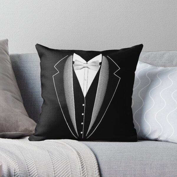 Men S Tuxedo Suit Throw Pillow By Crodesign Redbubble