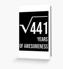 21st Birthday Gifts Shirts for Men and Women Greeting Card