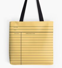 Vintage Library Card - Yellow Gold Tote Bag