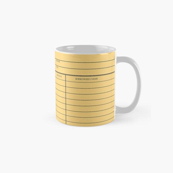 Vintage Library Card - Yellow Gold Classic Mug