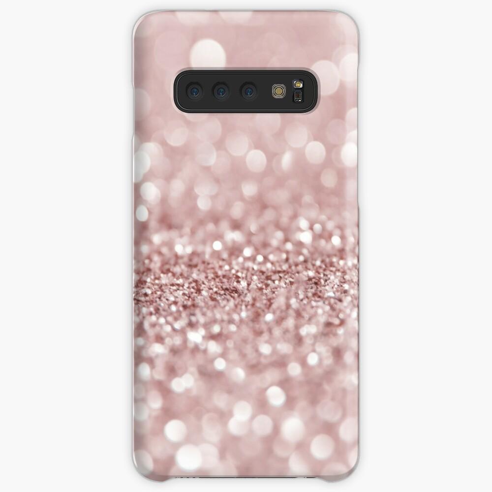 Glitzernde Rose Hüllen & Klebefolien für Samsung Galaxy