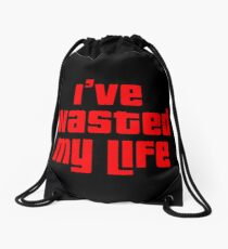 GTA Wasted: I've Wasted My Life Drawstring Bag