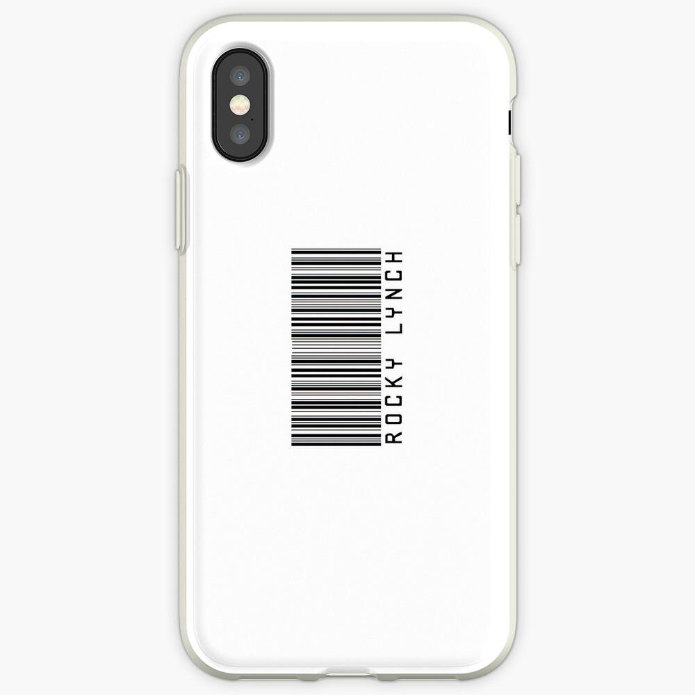 Felsiger Lynch-Barcode-Telefon-Kasten oder Aufkleber - horizontal iPhone-Hülle & Cover