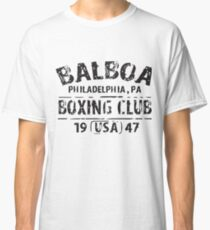 Balboa Boxing Club Rocky Movie Philly Retro Work Out Gym T-Shirts Classic T-Shirt