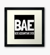 BAE Best Accountant Ever Funny T-shirts Framed Print