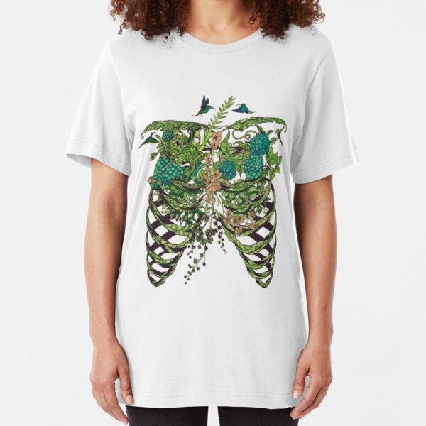 Nature Rib Cage Slim Fit T-Shirt