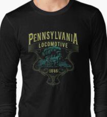 Pennsylvania Railroad Steam Train Locomotive  Long Sleeve T-Shirt