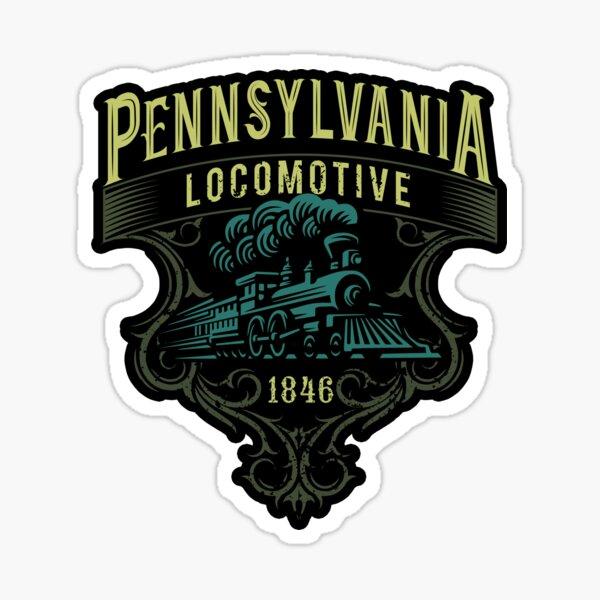 Pennsylvania Railroad Steam Train Locomotive  Sticker