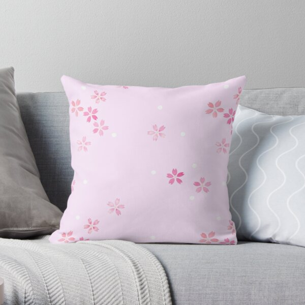 Cherry Blossoms in Pink Throw Pillow