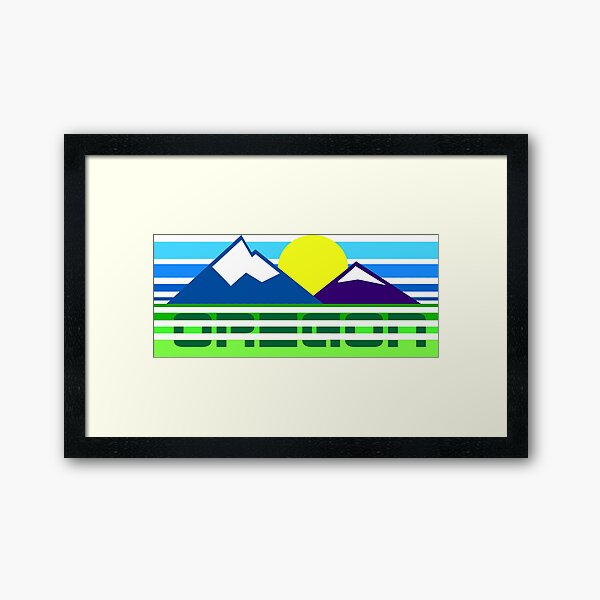 Retro Oregon Framed Art Print