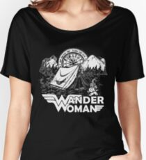 Wander Woman Gift for Queen Of The Camper T-shirt Women's Relaxed Fit T-Shirt