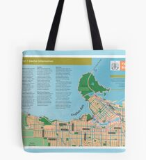Vancouver cycling map, 2005 Tote Bag