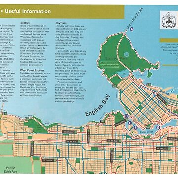 Vancouver cycling map, 2005 by FOVCA