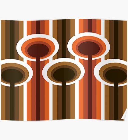 Retro Elements v 2.0 : Chocolate Orange Poster