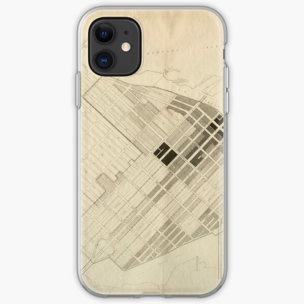 Building density map, Gastown and Yaletown, 1956 iPhone Soft Case