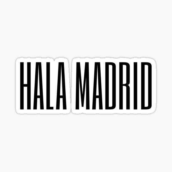 Hala Madrid Real Madrid Pegatina