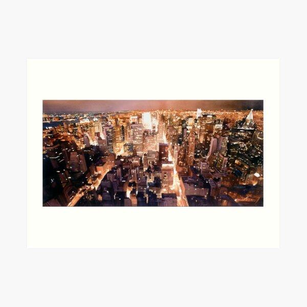 """""""Manhattan Tapestry"""" New York Watercolor Art Print"""