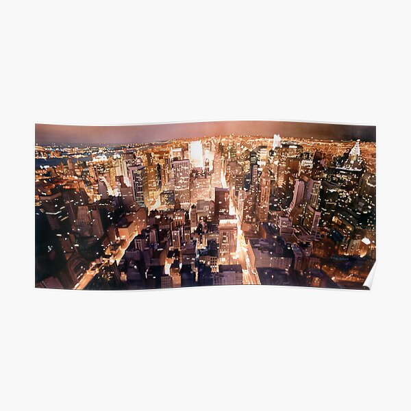 """Manhattan Tapestry"" New York Watercolor Poster"