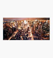 """Manhattan Tapestry"" New York Watercolor Photographic Print"