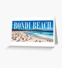 Bondi Beach Adresse Grußkarte