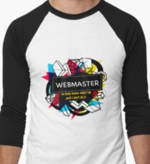 WEBMASTER Men's Baseball ¾ T-Shirt