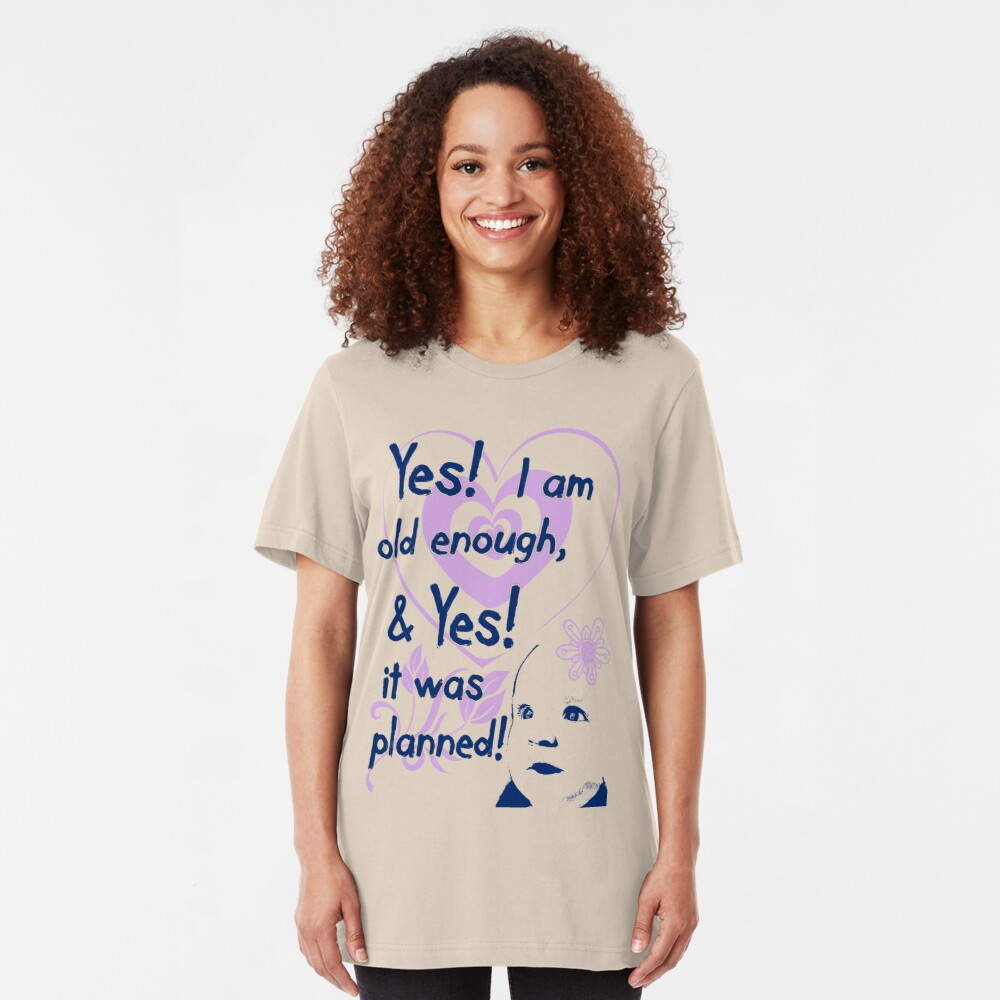 Planned! Pregnancy t-shirt Slim Fit T-Shirt
