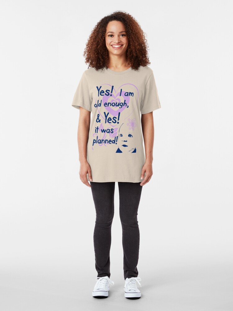 Alternate view of Planned! Pregnancy t-shirt Slim Fit T-Shirt