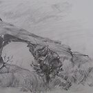Arch in Utah (pencil sketch) by Anthropolog