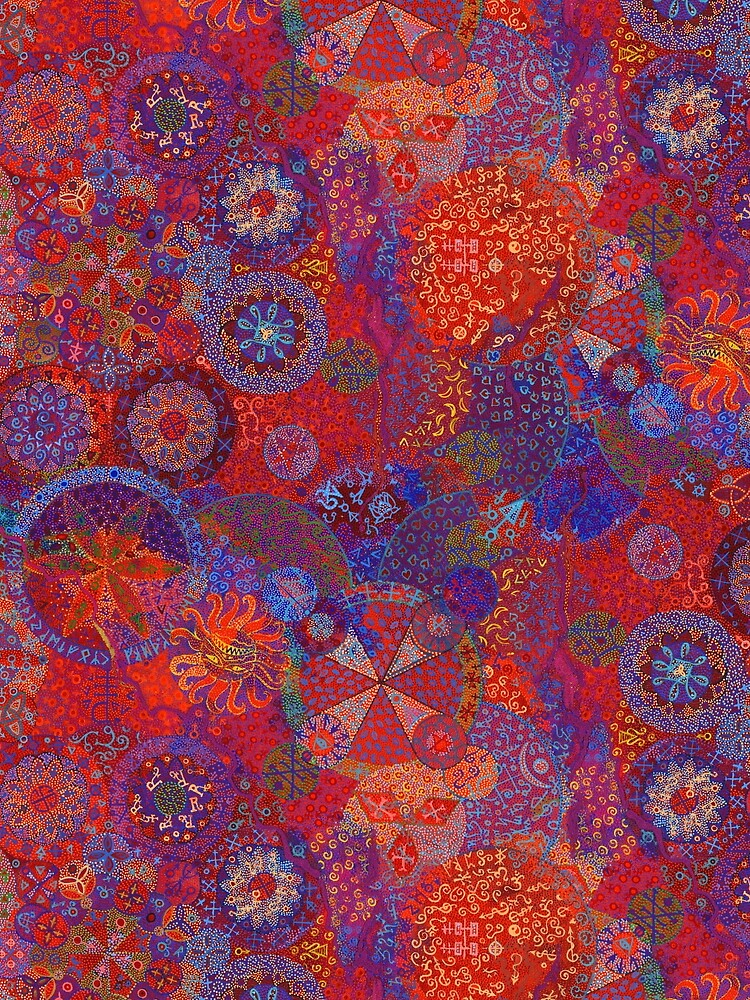 Rose Window (repeat pattern) by BrownWoodRobot
