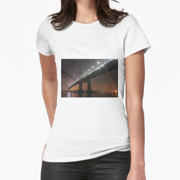 Self-Anchored Suspension Bridge, Early Morning, Nature, Mother Earth, Environment, Wildlife, Flora, Kind, Grain, Park Fitted T-Shirt