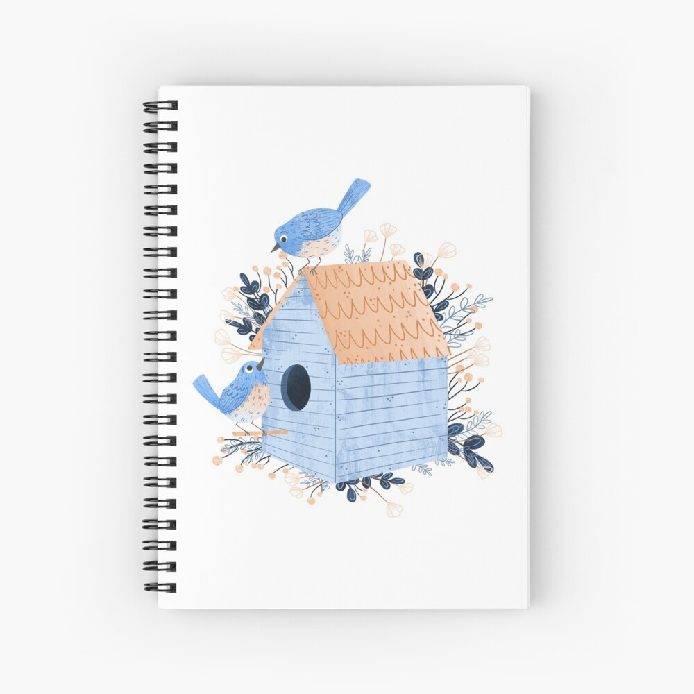 Bluebird Home Spiral Notebook