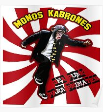 Monkey Karbones Dancing Ska Music With The Band Poster