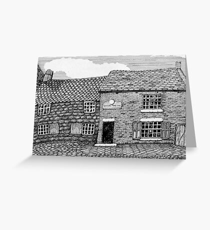 219 - WILLOW TREE INN, NEWSHAM, c.1885 - DAVE EDWARDS - INK - 2009 Greeting Card