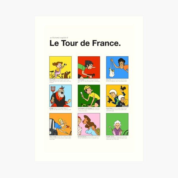 Tour de France characters poster Art Print