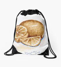 Oranges in autumn Drawstring Bag