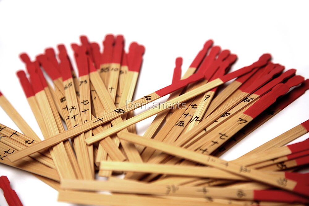 Chinese Fortune Sticks by Dentanarts