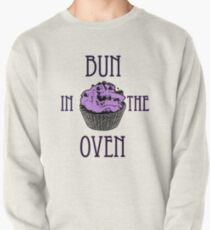 Bun In The Oven - Lilac - Pregnancy Tee Pullover Sweatshirt