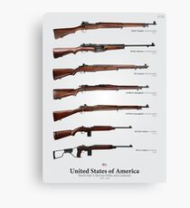 World War II Service Rifles of the United States Canvas Print