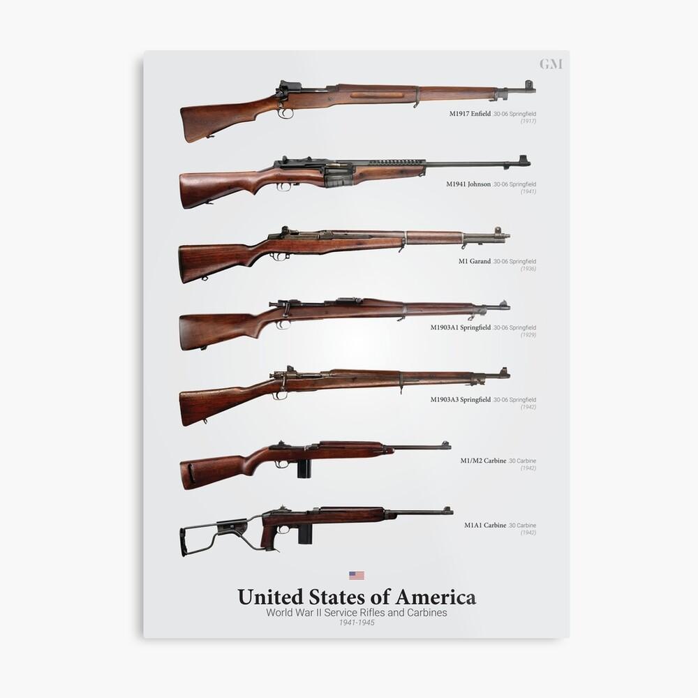 Rifles de servicio de la Segunda Guerra Mundial de los Estados Unidos Lámina metálica