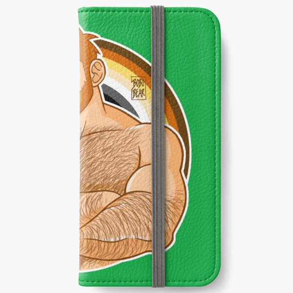 ADAM LIKES CROSSING ARMS - BEAR PRIDE - GINGER EDITION iPhone Wallet
