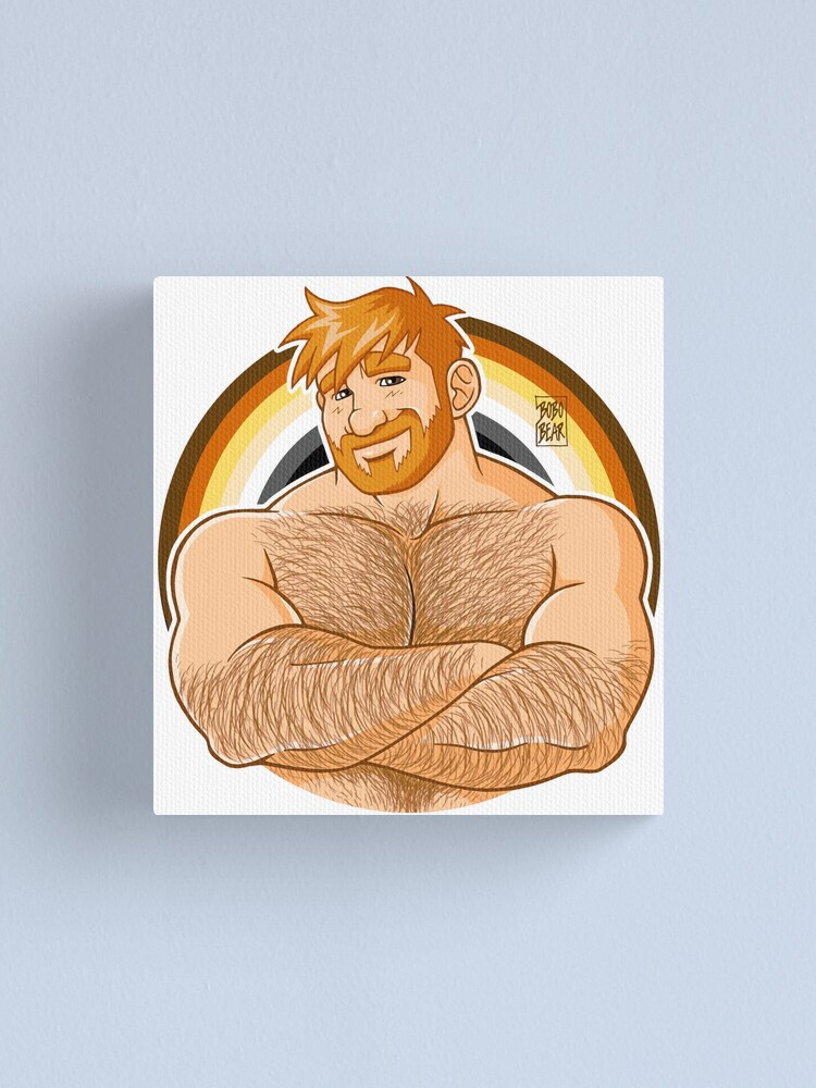 Alternate view of ADAM LIKES CROSSING ARMS - BEAR PRIDE - GINGER EDITION Canvas Print