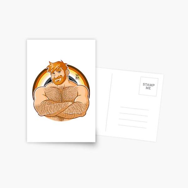 ADAM LIKES CROSSING ARMS - BEAR PRIDE - GINGER EDITION Postcard