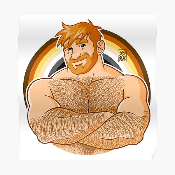ADAM LIKES CROSSING ARMS - BEAR PRIDE - GINGER EDITION Poster